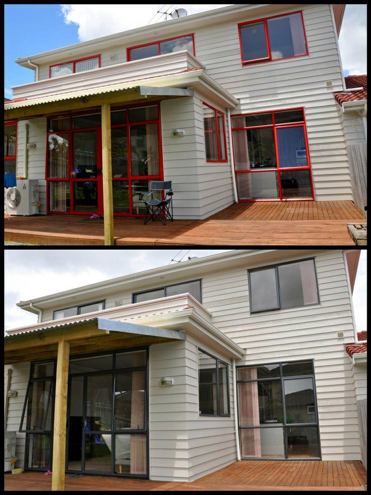 #renovation #windowrecolouring www.windowrecolouring.co.nz #beforeandafter