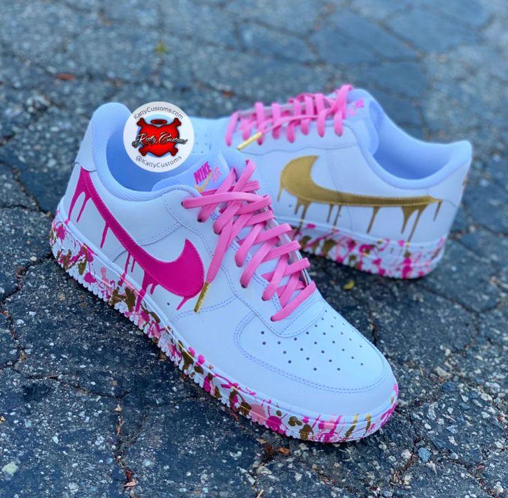 Custom Nike Sneakers in 2020 Nike shoes air force, Hype
