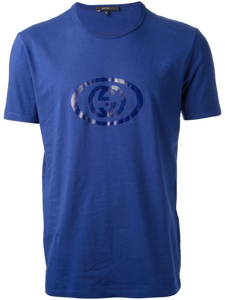 Gucci blue logo print t shirt gucci t shirts for Logo for t shirt printing