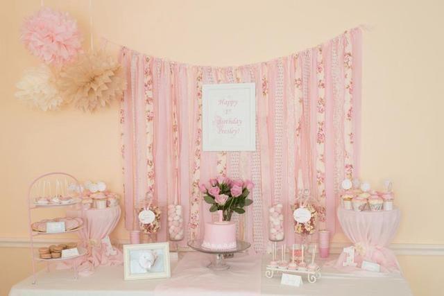 soft pink dessert table