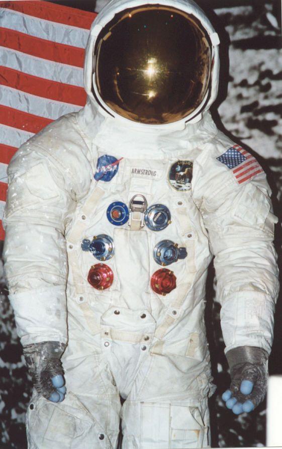 neil armstrong in astronaut uniform -#main