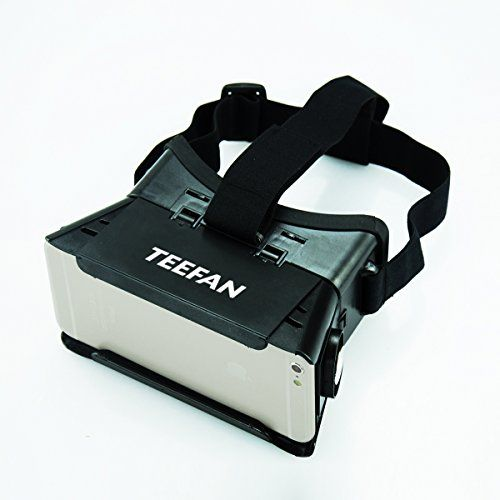 TEEFAN Portable Universal Black Plastic Google Cardboard 3D Virtual Reality 3D VR Headset Video Game Movie Glasses for Smartphone iPhone Samsung Nexus HTC LG with Magnet Adjustable Pupil Focal Distance
