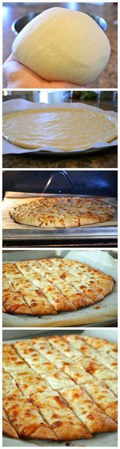 Fail-Proof Pizza Dough and Cheesy Garlic Bread Sticks - Best Healthy Italian Recipes for Dinner #easy #recipes