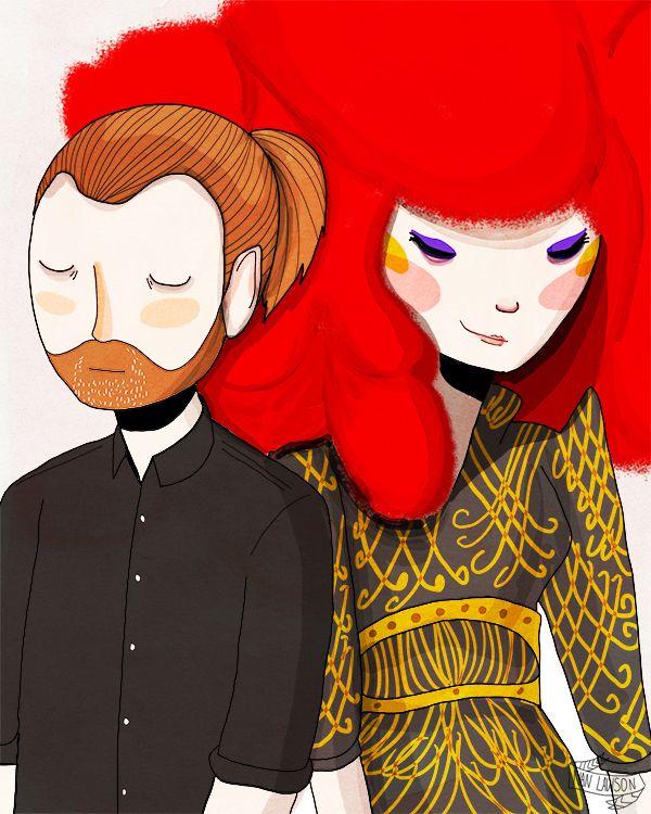 Yorke & Bjork by Nan Lawson