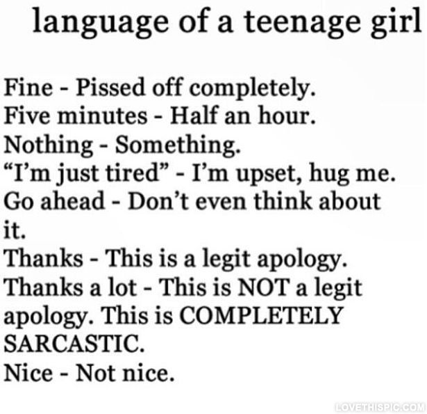 ... teenage Quotes Pinterest Language, Funny Girls and Graphics