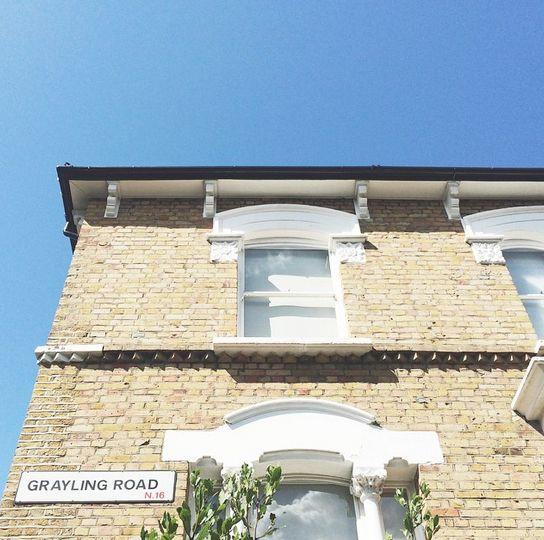 clear blue London sky