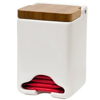 Stash Tea Company White Ceramic Tea Bag Dispenser : New Arrivals