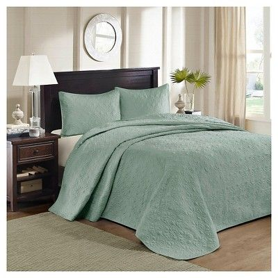 Vancouver Quilted Coverlet Set (Full/Queen) Seafoam - 3-Piece