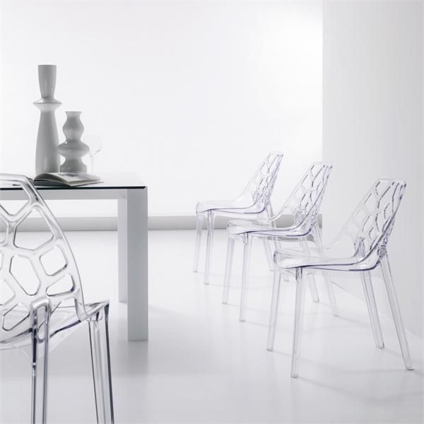 modern chair design trendy transparent chairs minimalist dining room furniture ideas