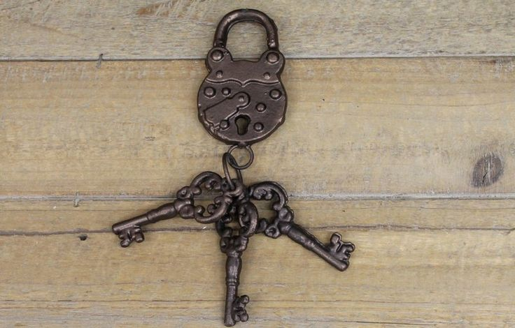 Iron Padlock and Keys