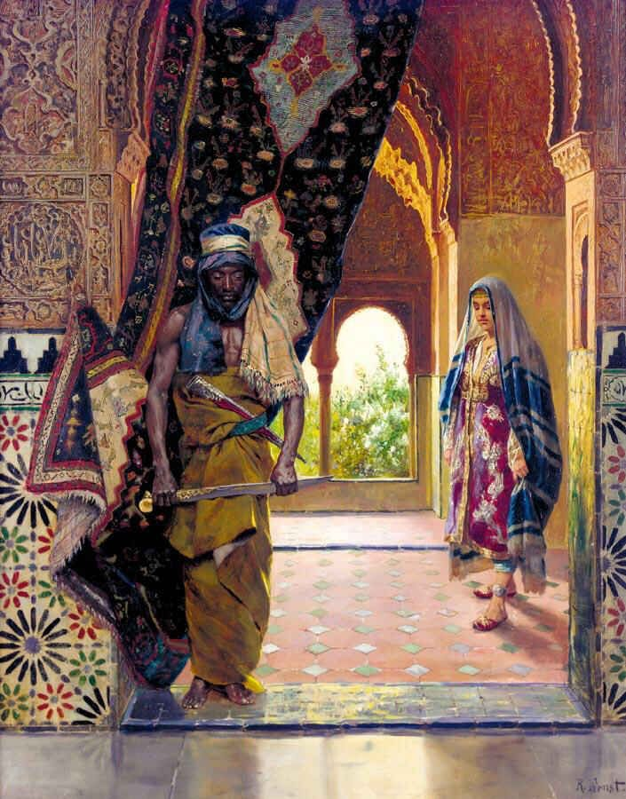 Rudolf Ernst: The Guard of the Harem (undated) @@@@......http://www.pinterest.com/nikitaidou/art-orientalism/