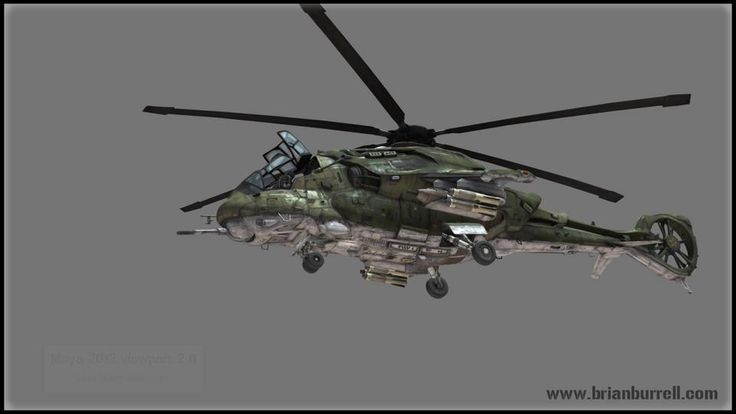 Futuristic Hind Helicopter - Maya Viewport 2.0. This helicopter was built as a personal project for my portfolio to showcase how a vehicle c...