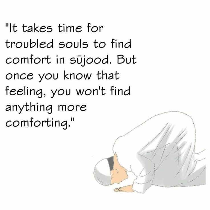 Have you ever felt anything more comforting than Sujood?    #IslamicQuotes #AboutIslam #Faith