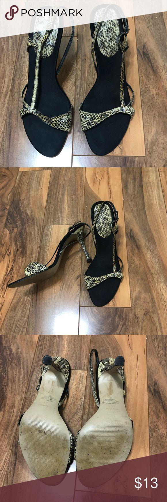 Snake Print Slingback Sandal. Snake Print Slingback Sandal. Nine West Shoes Sandals