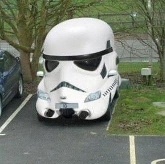 A cool Storm Trooper Car!