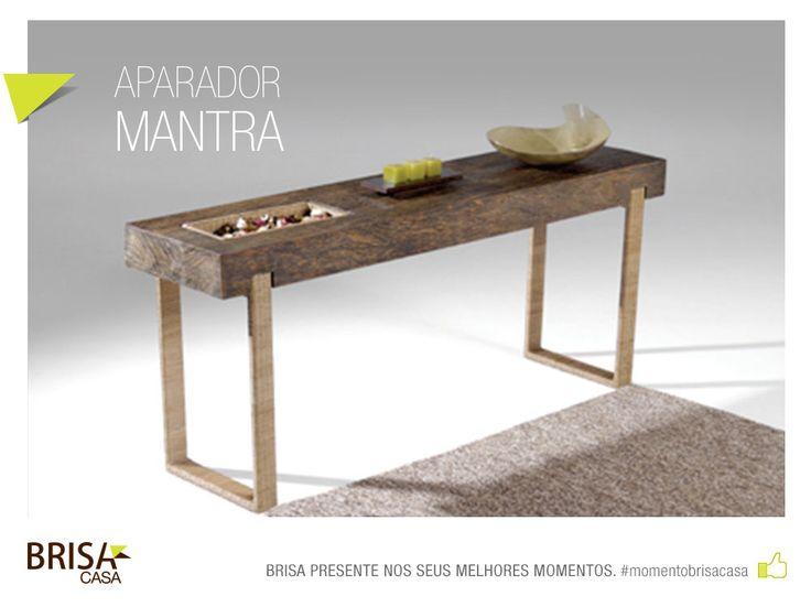 APARADOR MANTRA - PEça em madeira de demolição, estrutura em alumínio revestido com fibra natural #momentobrisacasa