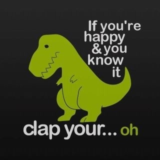 T-Rex: if you're happy and you know it clap your hands...oh!: Giggle, Poor T Rex, Dinosaur, Trex, Funny Stuff, Humor, Funnies, Things