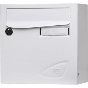 Boîte aux lettres RENZ Essentiel compacte blanc en acier