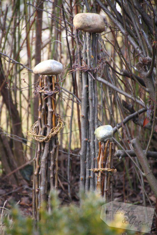 Vom Gartenschnitt Zur Frühjahrsdeko Säulen Aus Ästen