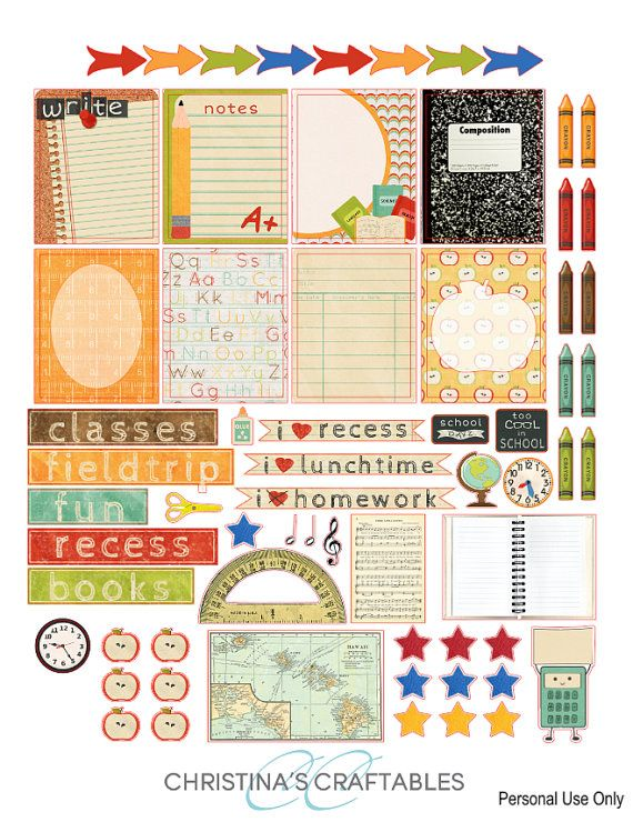 Back to School Planner Stickers for Erin by ChristinasCraftables