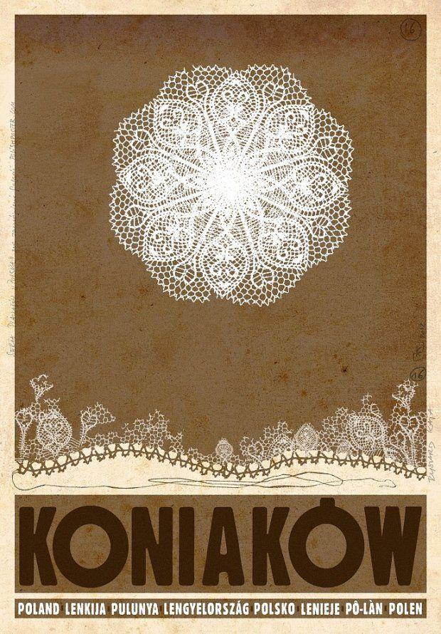 the homeland of famous polish lace, Koniaków, Poland