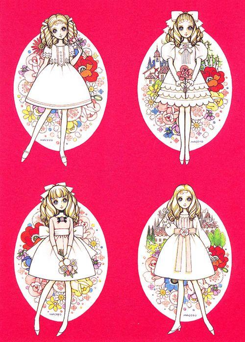 "Makoto Takahashi My scans from artbook "" Makoto Takahashi no Sekai"" ♥* 1500 free paper dolls at Arielle Gabriels International Paper Doll Society also free paper dolls at The China Adventures of Arielle Gabriel *"
