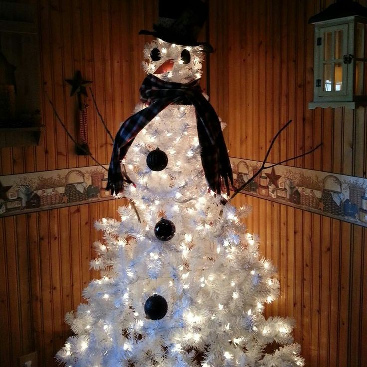 Xmas Tree Snowman, love this