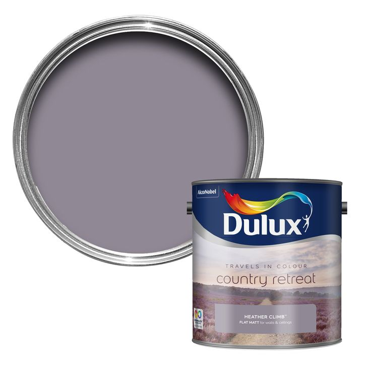Dulux Travels In Colour Heather Climb Purple Flatt Matt Emulsion Paint 2.5L | Departments | DIY at B&Q