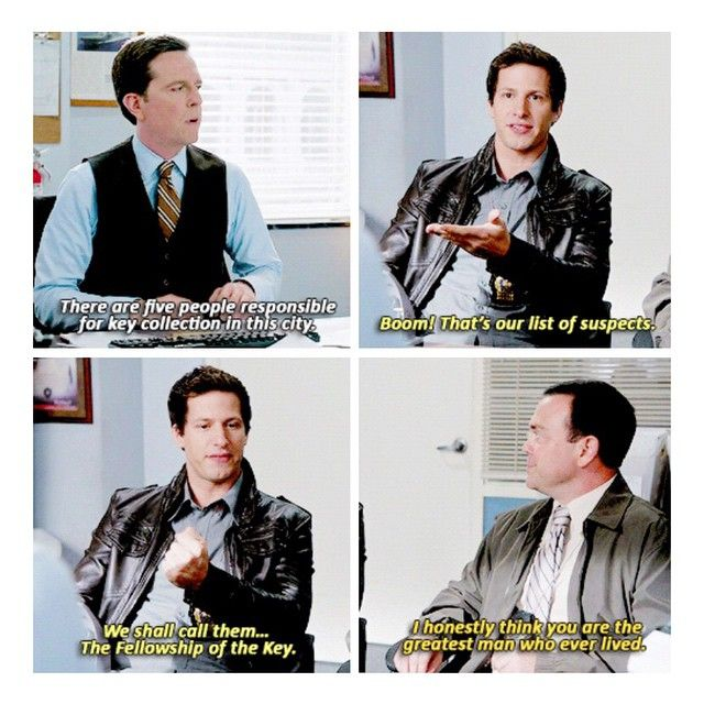 "#Brooklyn99 2x08 ""USPIS"" - Det. Jake Peralta, Det. Boyle and Jack Danger (guest star Ed Helms)"