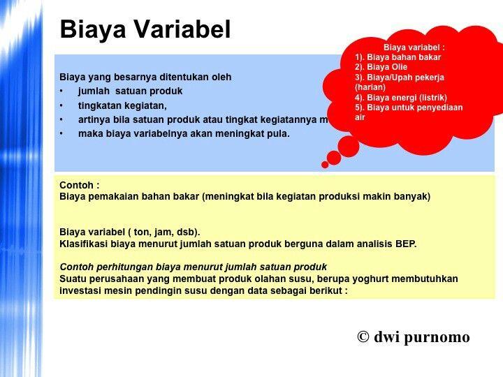 biaya variabel