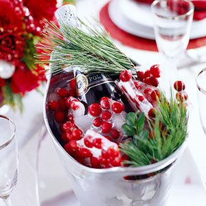 {Tipsy Christmas Cheer} freeze Cranberries into ice cubes to keep your holiday spirits cold.