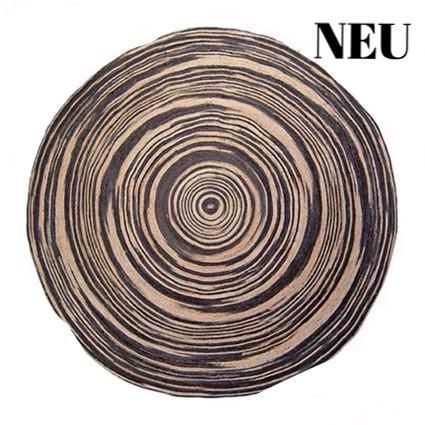 jute-teppich 200cm, handgeknüpft natur-schwarz WWW.INTHEATTIC.AT