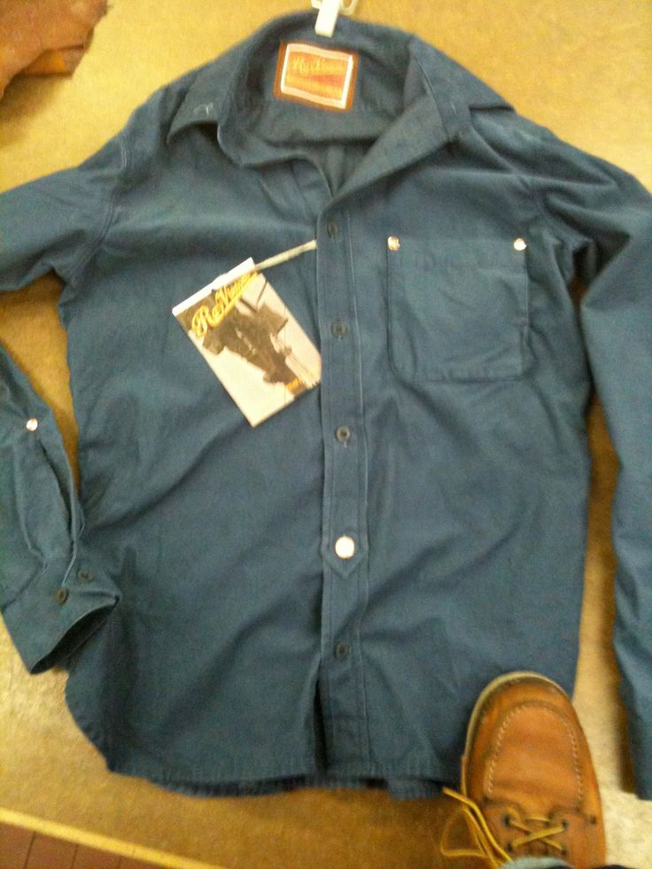 Stone washed chambray with old finish