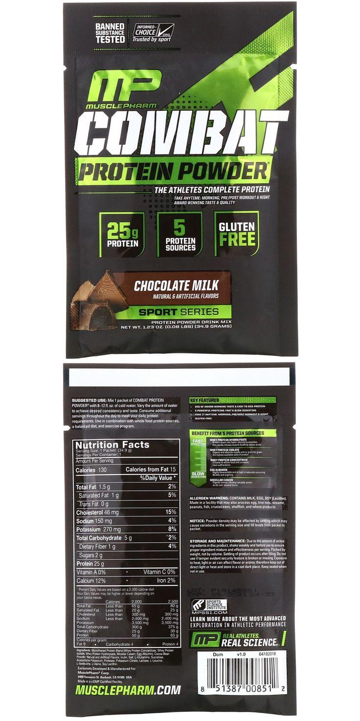 Combat Protein Powder, Chocolate Milk, 1.23 oz (34.9 g