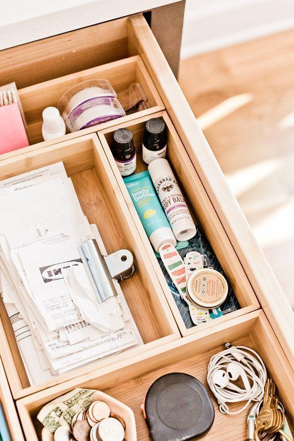 Get Organized 37 Super Awesome Diy Organization Ideas For Your Home Junk Drawer Organizing Organize Drawers Desk Drawer Organisation