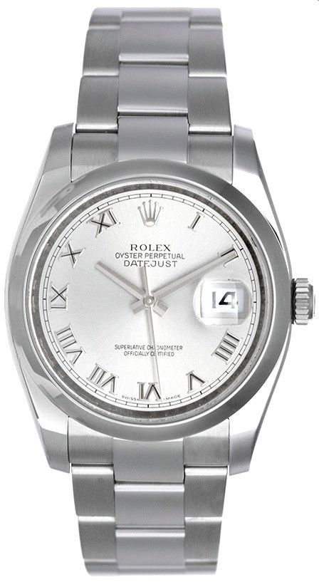 - Brand: Rolex - Model: Datejust - Code/Model Number: 116200 - Movement: Automatic - Gender: Gents - Case Size: 36mm - Band: Stainless Steel Bracelet - Description: Rolex Datejust in 36mm stainless st