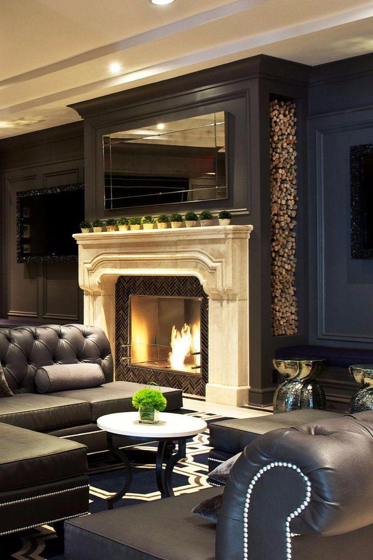 Living Room Black Furniture 17 Best Ideas About Black Leather Sofas On Pinterest Black