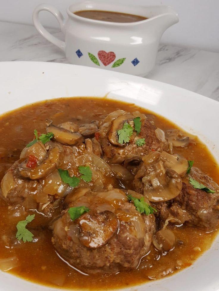Pressure Cooker Salisbury Steak with Onion Gravy Image