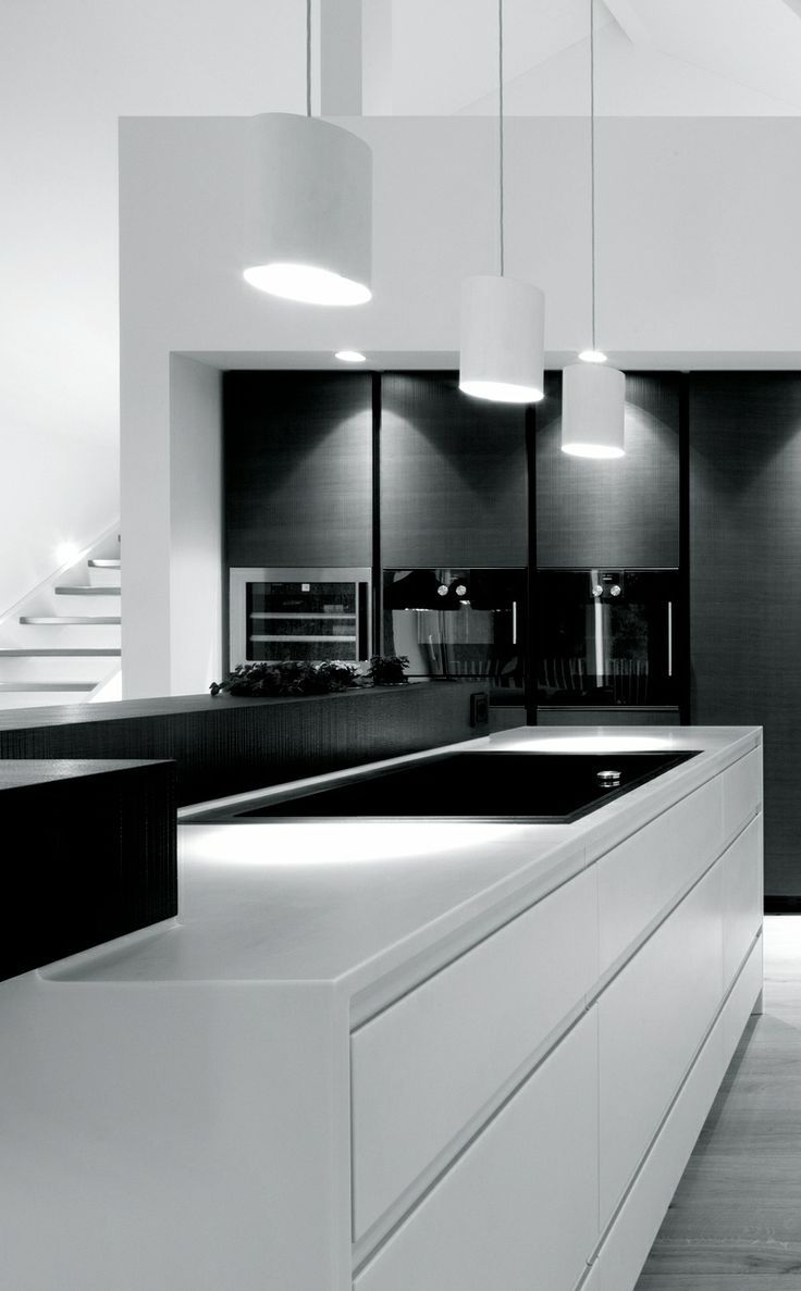 Black White Kitchens - | White Kitchens, Kitchens and Bistro Decor
