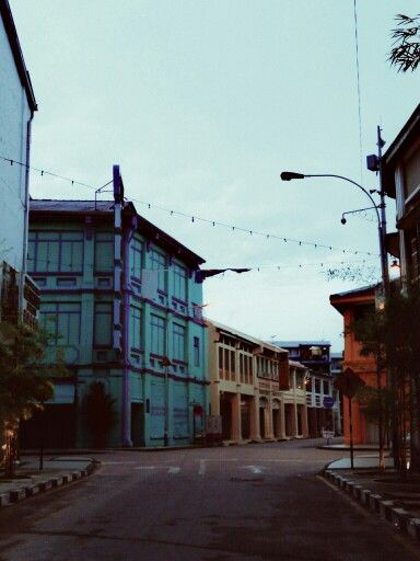 Old colours building, Penang.