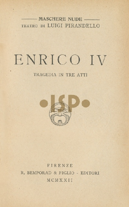 Luigi Pirandello - Enrico IV