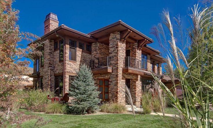 Imposante maison contemporaine bois et pierre à Denver, Usa,  #construiretendance