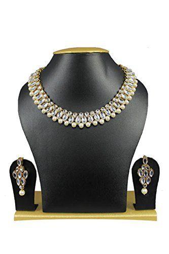 Bollywood Elegant White Stones Pearls CZ Kundan Gold Plat... https://www.amazon.com/dp/B01J7CPVUK/ref=cm_sw_r_pi_dp_x_xsrZybCRNV037