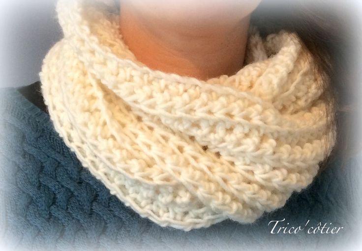 Tuto gratuit - Vaincre le froid ! Tuto Snood au crochet ! Spécial débutant (free pattern - scarf )