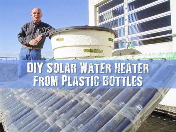 Diy Solar Water Heater From Plastic Bottles Make A Solar Water Heater From A Pile Of Plastic Bottles And Cartons In 2020 Solar Water Heater Diy Solar Water Diy Solar