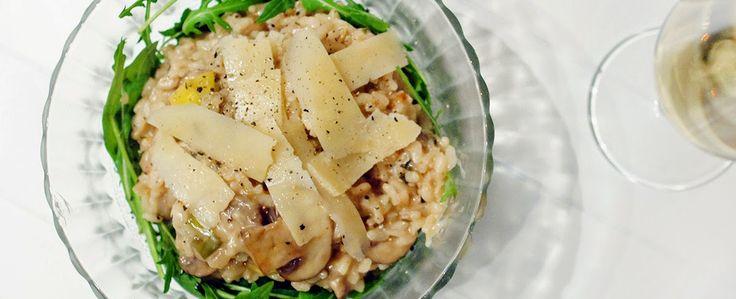 Gewoon wat een studentje 's avonds eet: Dinner: Risotto met kastanjechampignons, prei en p...