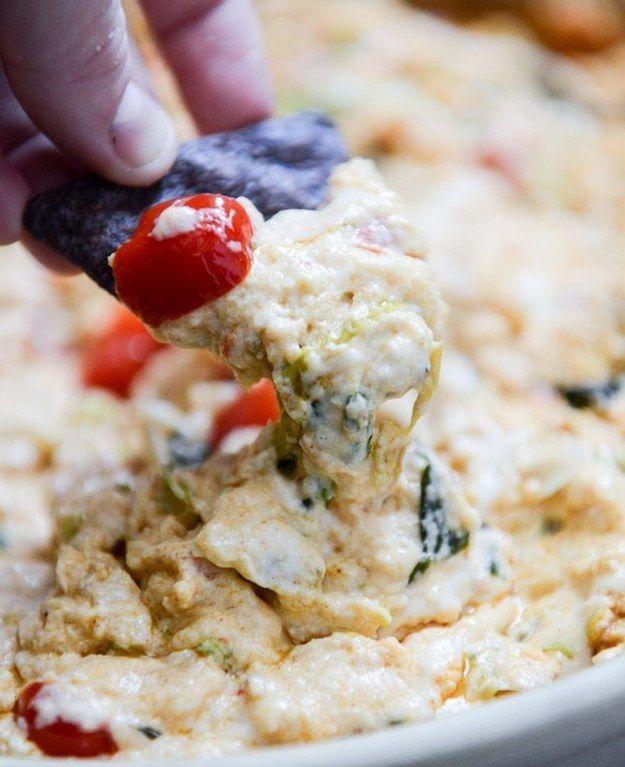 Cheesy Chicken Enchilada Dip | 32 Delicious Ways To Use Rotisserie Chicken