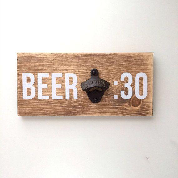 Wall mounted bottle opener rustic bottle opener by FreestyleMom
