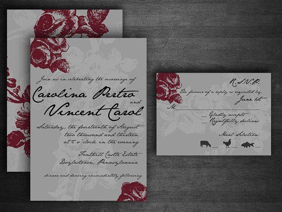 Vintage Rose DIY Printable Wedding Invitation by FoolsInLove, $30.00