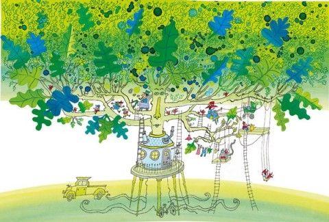 Sieb Posthuma wint Gouden Penseel :: nrc.nl  'Ik heb een tante en een oom, die zitten in een eikeboom, een eikeboom in Laren.' Illustratie uit 'Een vijver vol inkt', bekroond met het Gouden Penseel 2012.  Gedichten van Annie M.G. Schmidt